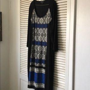 Karen Kane Aztec pattern front dress